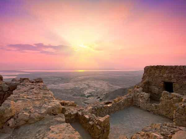 masada ruins gettyimages